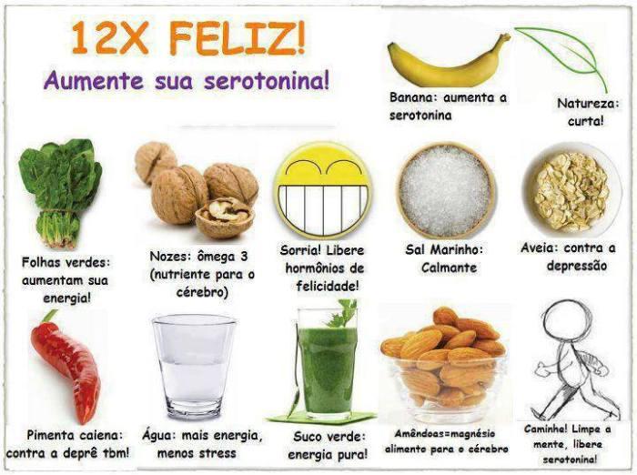 Alimentos para felicidade