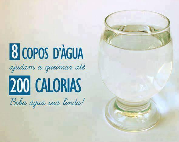 Água, boa até para queimar caloria
