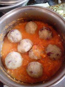 Almôndega de batata doce e quinoa